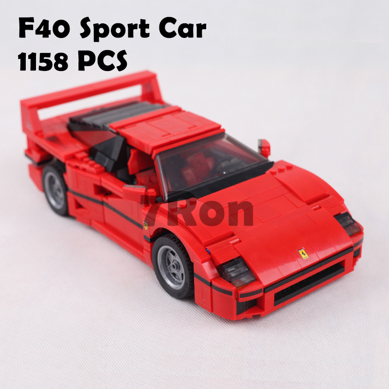 001 21004 F40 Sports Car Model Building Kits Compatible With Lego