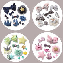 M MISM 1 Set=10 Pcs Hot Sale Hair Clip For Children Girl Hair Accessories Lovely Bow-knot Barrette Hairpins Headwear Handmade