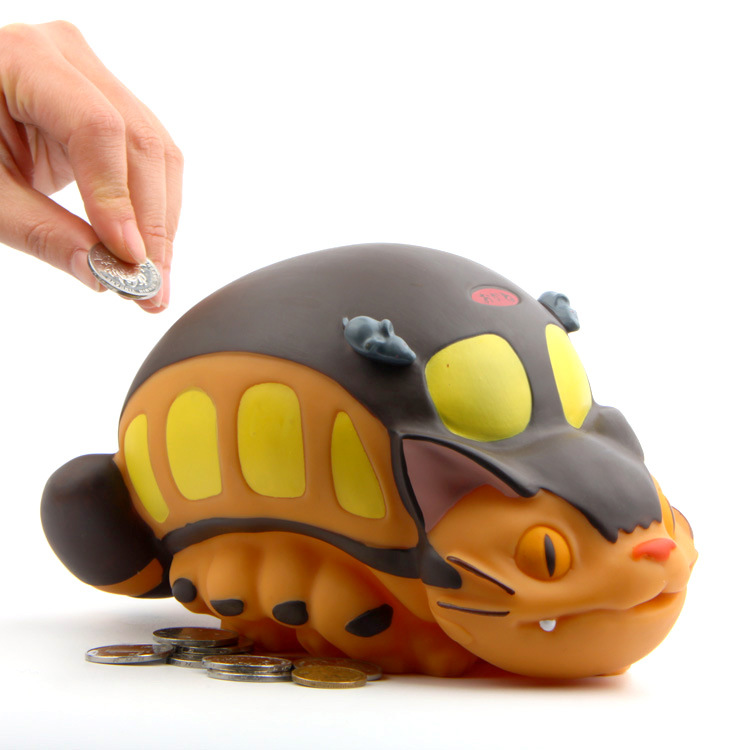 My Neighbor Totoro Cat Bus Saving Pot Anime Totoro Toys Tonari no Totoro PVC 19.5cm Money Box Piggy Bank Model Toys gift Doll pu short wallet purse with colorful printing of japanese anime tonari no totoro my neighbor totoro