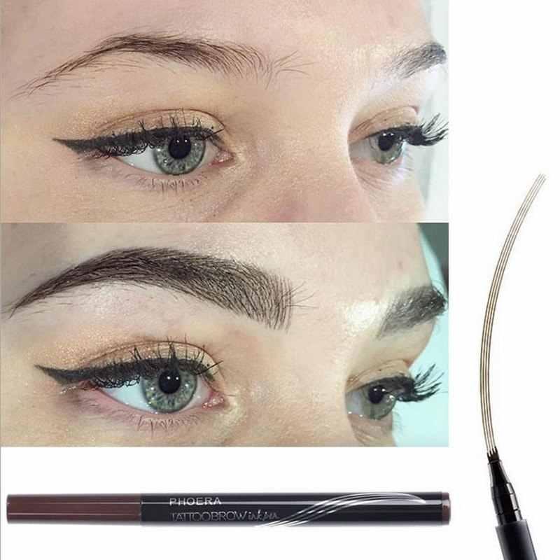 1 pc Eyebrow ดินสอเขียนคิ้วผู้หญิงกันน้ำเคล็ดลับส้อม Eyebrow Tattoo ดินสอที่ดีที่สุดขายผลิตภัณฑ์เครื่องสำอางที่ดีที่สุดขาย