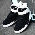 2016 Outono Novos Homens Sapatos Da Moda Tendência Sapatos Casuais Respirável Sapatos Masculinos Estudantes Hop Dance Shoes Lace Up Sapatos Confortáveis