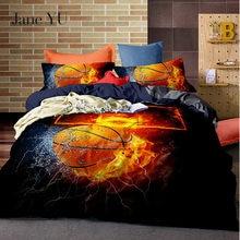Jane YU Basketball Printed Bedding Sets Duvet Cover Set 2/3pcs Bed Set Bed linen Bedclothes No Sheet 2 0m 3pcs simple solid colour bed sheet set