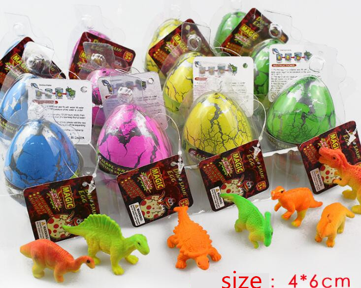 4pcs Big Size Colorful Dinosaur Eggs Growing Dinosaur Baubles Add Water Grow Funny Toys Children Kid Gift Magic Egg Kids Gift