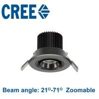 New Cree Chip Spot Led Downlight 110V 220V 5W 3000K 4000K 5000K Zoom Led Spot Light Bulb Lamp Museum Cabinets Lighting