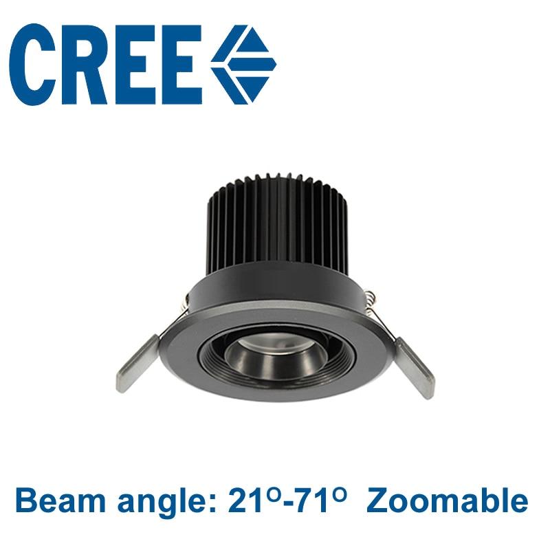 Nouveau cree puce spot led downlight 110 v 220 v 5 w 3000 k 4000 K 5000 K Zoom Led Spot Ampoule Lampe Musée Armoires éclairage