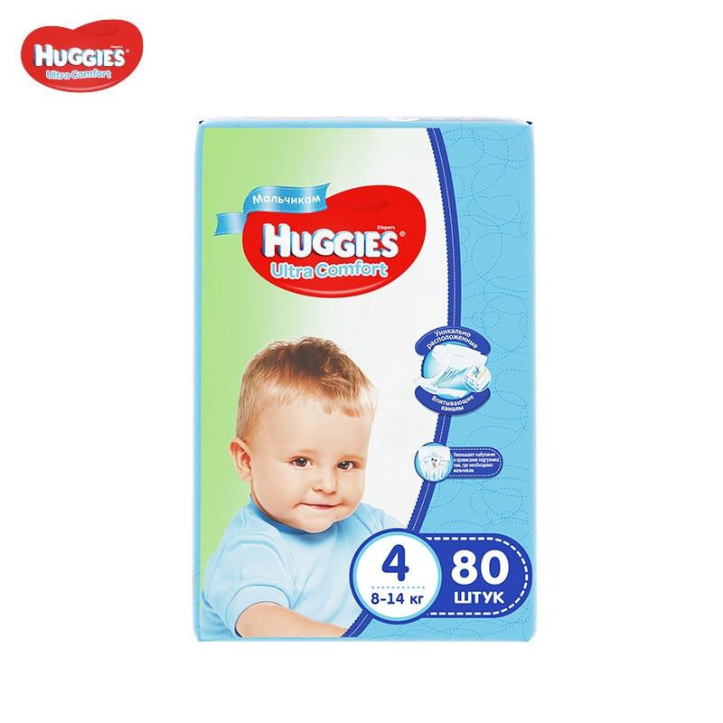 Подгузники Huggies для мальчиков Ultra Comfort 8-14 кг (размер 4) 80 шт