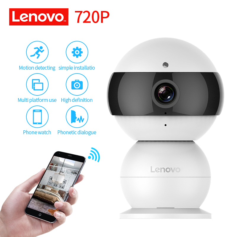 LENOVO Snowman IP Camera WiFi Wireless Mini HD 720P Security Camera Baby Monitor IR CUT Surveillance