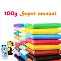 100 g/bolsa soft polymer modela la arcilla plastilina barro juguete educativo foam clay plastilina 24 colores diy artesanía juguetes para niños
