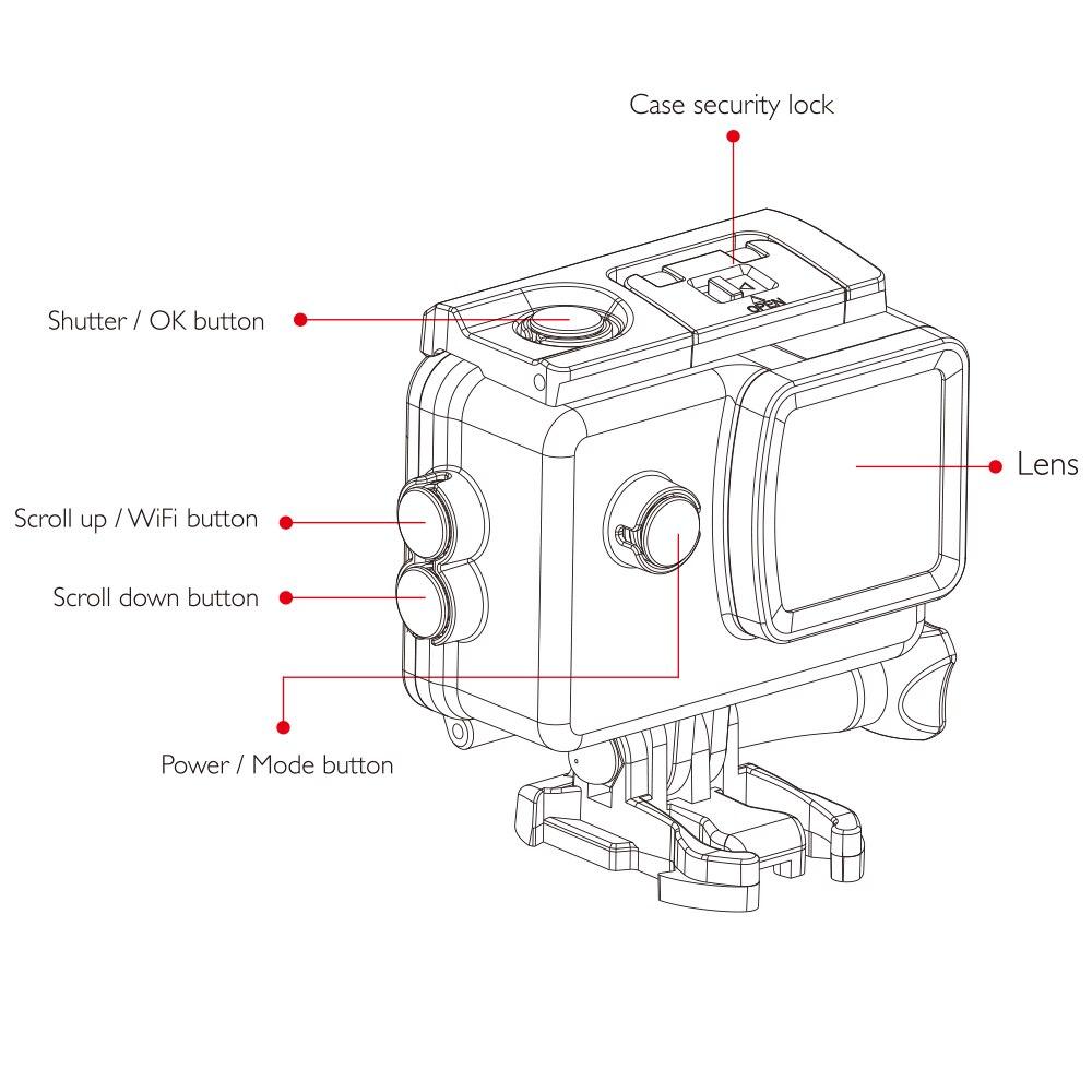 SJCAM SJ4000 AIR 4K 30fps Action Camera Full HD Allwinner
