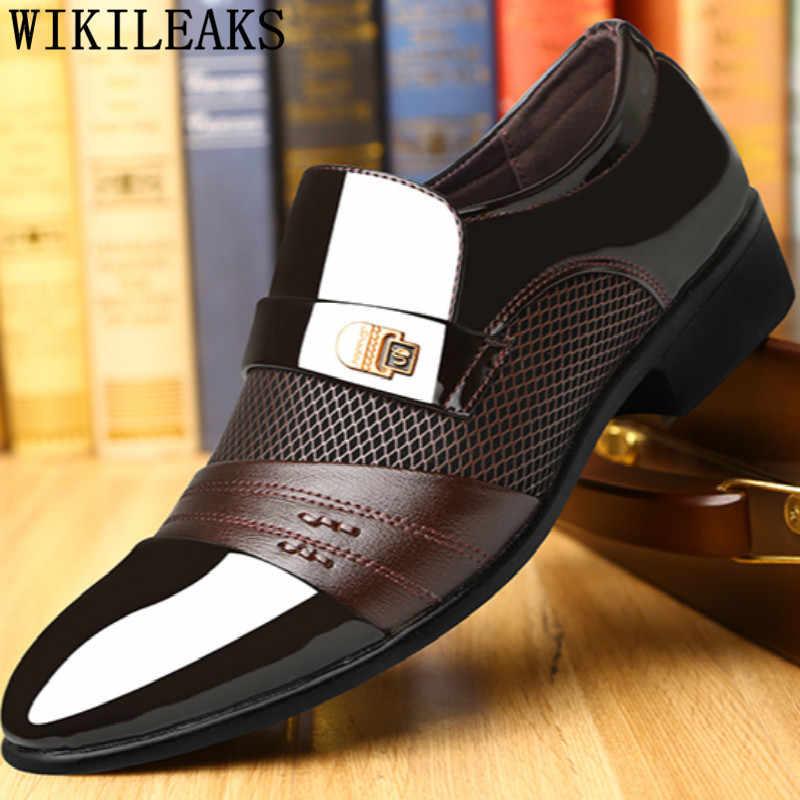 อิตาเลี่ยนบุรุษรองเท้า oxford รองเท้าผู้ชาย loafers ผู้ชายรองเท้า zapatos de hombre de vestir อย่างเป็นทางการ sapato สังคม