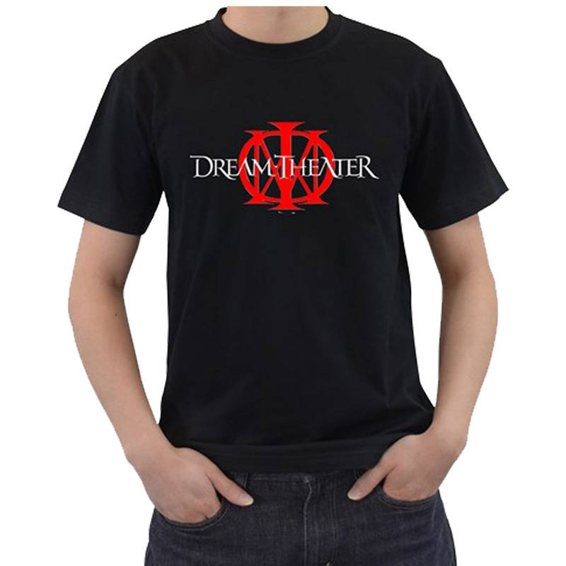 Summer Cotton T Shirt Fashion Crew Neck Dream Theater Short O-Neck Compression T Shirts  ...