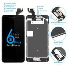 """A1634 A1687 A1699 Display set completo per Apple iPhone 6S Plus LCD Touch Sensor Digitizer Assembly 5.5 """"schermo tasto Home altoparlante"""