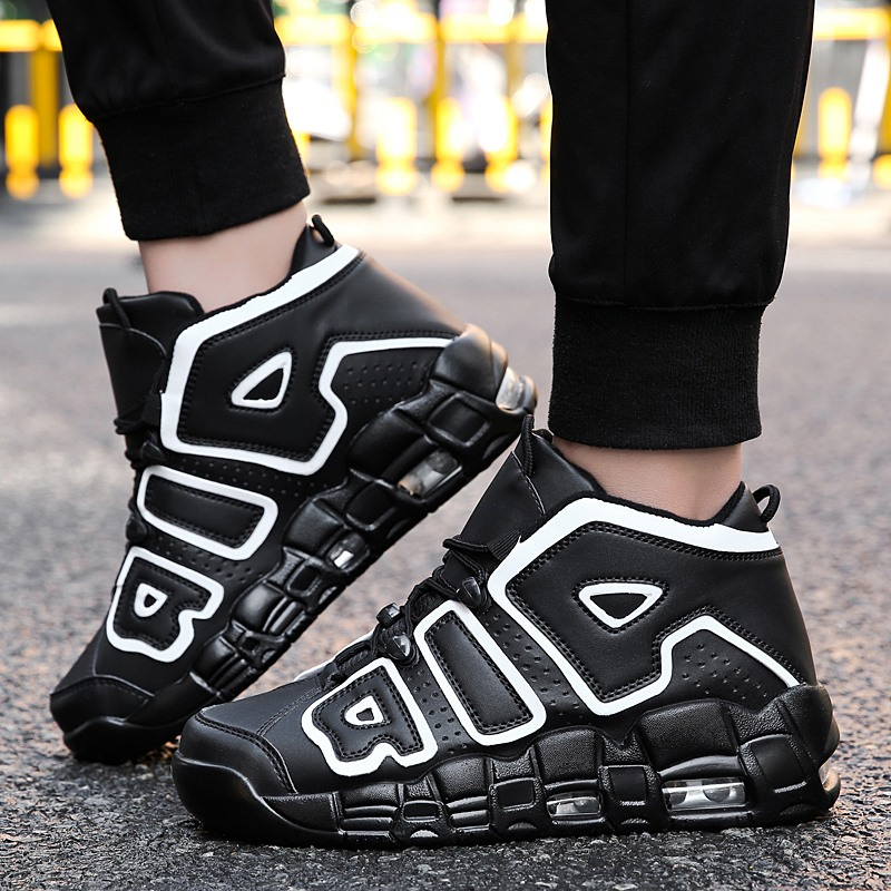 <font><b>Basketball</b></font> Shoes <font><b>Men</b></font> Air Sports Shoes High Tops <font><b>Mens</b></font> <font><b>Basketball</b></font> <font><b>Sneakers</b></font> Athletics Basket Shoes Chaussures de basket Black shoes image