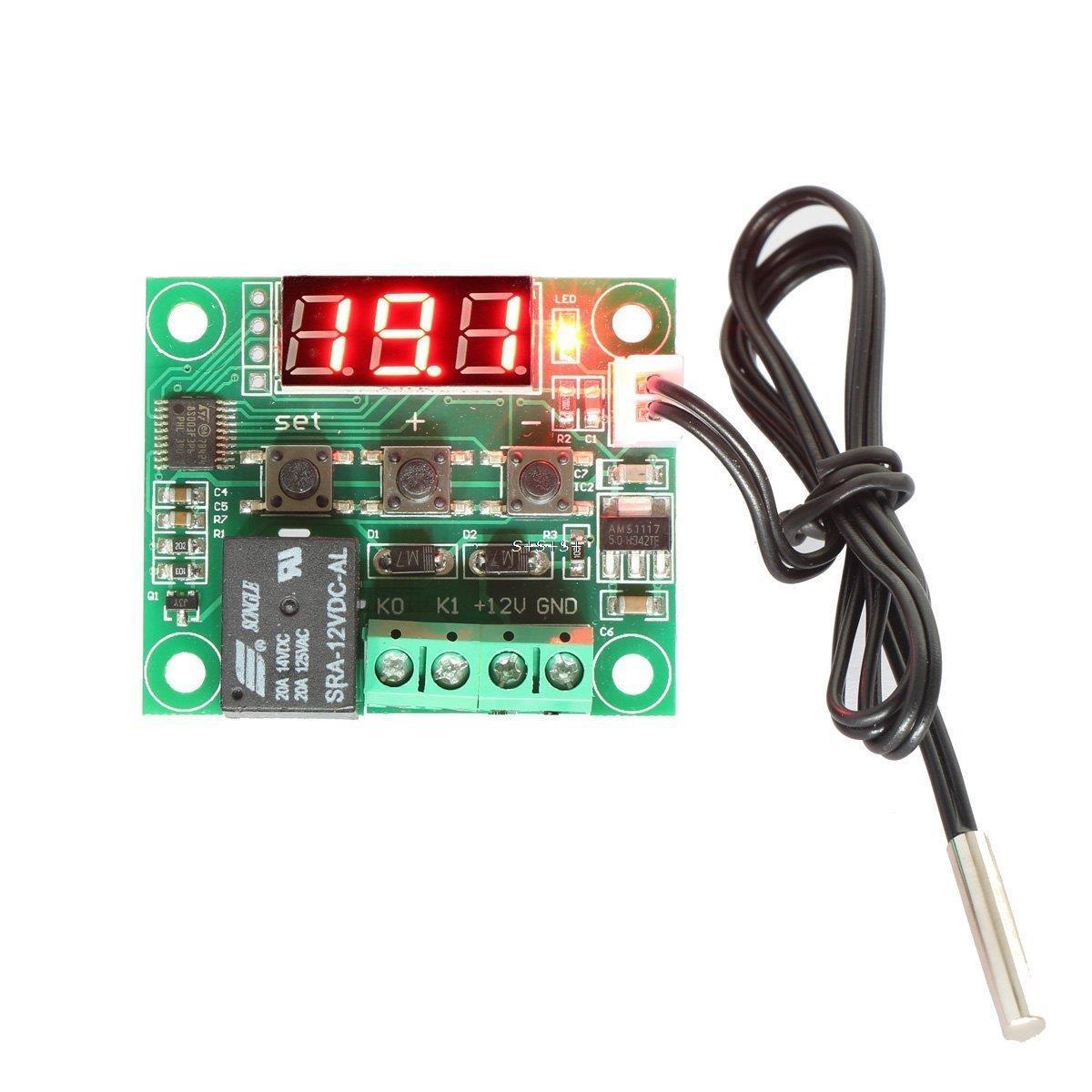 Hot 50-110° 12V W1209 Digital thermostat Temperature Control Switch Sensor+Case