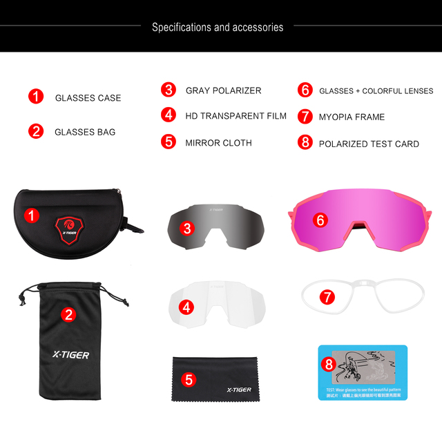 X-TIGER feminino polarizado ciclismo óculos de sol mtb bicicleta ciclismo óculos ciclismo ciclismo mountain racing 2