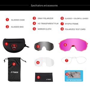 Image 2 - X TIGER Women Polarized Cycling SunGlasses MTB Bicycle Cycling Eyewear Ciclismo Cycling Glasses Mountain Racing Bike Goggles