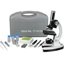 Ücretsiz kargo!!!! amscope çocuklar 300x-600x-1200x 48 adet metal kol eğitim çocuk biyolojik mikroskop çocuklar izle