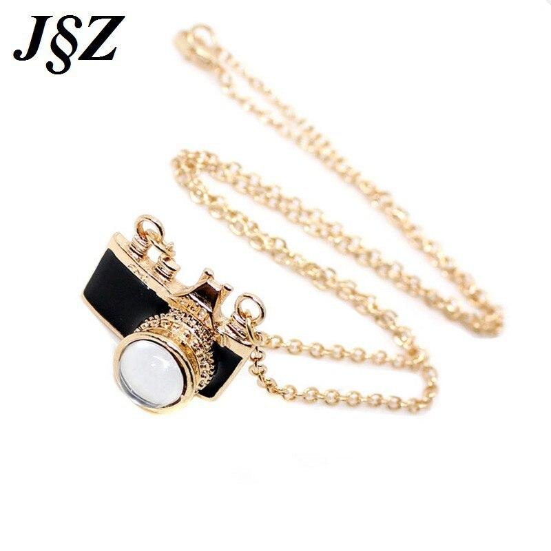 Предновогодние подарки черный/розовый эмаль камеры Ожерелья Подвески с белый опал камень цвет золотистый длинное ожерелье цепь bijoux Женщин... ...