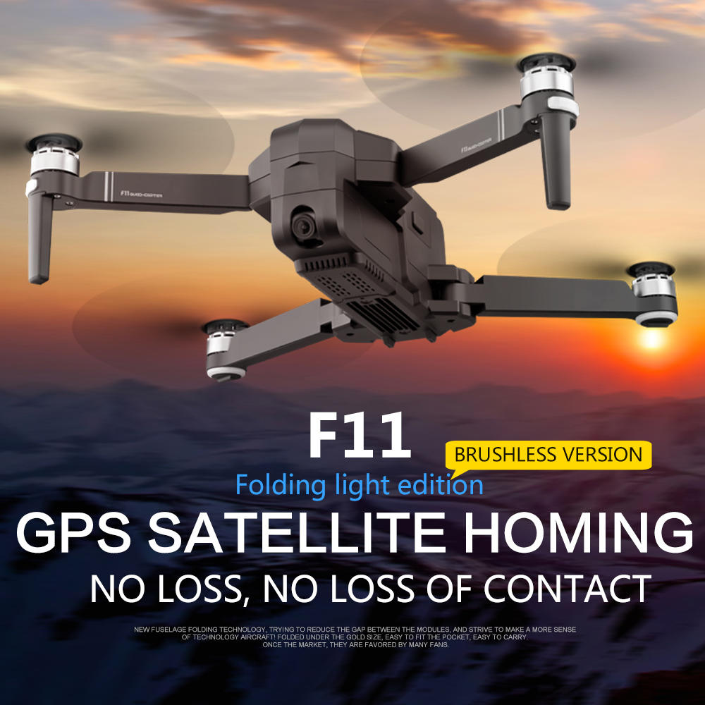 OTPRO F11 GPS Drone Con Il Wifi FPV 1080 P Camera Brushless Quadcopter 25 minuti Tempo di Volo di Controllo Gesto Pieghevole Dron RC droni