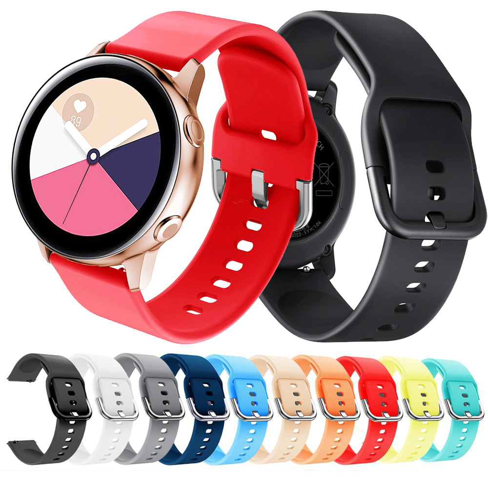 20mm Soft Silicone Watch Band For Samsung Galaxy S2 Gear Sport Galaxy 42mm Band For Galaxy Watch Active Band Huami