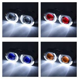Image 4 - Sinolyn Faro Lenti LED Fari Alogeni Di Profondità Bi xenon obiettivo 2.5 Devil Occhi Faro Proiettore H4 H7 H1 Luci AUTO Accessori messa a punto