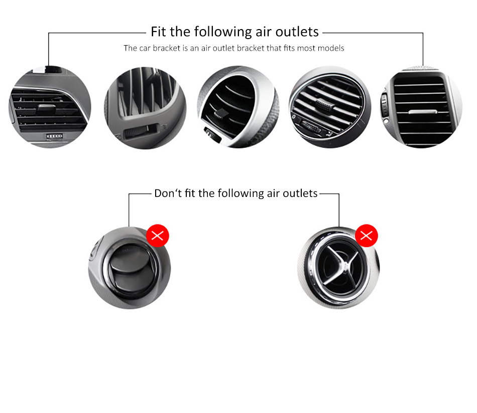 !ACCEZZ 360 Air Vent Mount For Huawei P20 iPhone 8 7 6 6s Plus Xiaomi 5 Samsung S8 S9 Degree Adjustable Gravity Car Phone Holder (12)