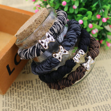 5PCS/10PCS High Quality Women Colorful Elastic Hair Rubber Band Black Rope Ponytail Holder Girl Accessories Tie Gum