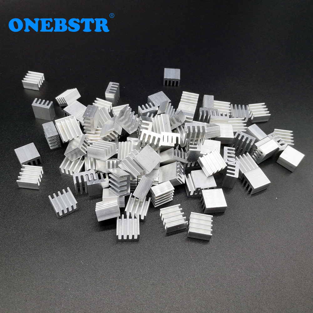 100Pcs/lot Aluminum Routing Heatsink Electronic Chip Cooling Radiator 8.8x8.8x5mm for A4988 Chip Wholesale 50pcs lot aluminum heatsink 8 8x8 8x5mm electronic chip cooling radiator cooler for cpu ram gpu a4988 chipset heat sink