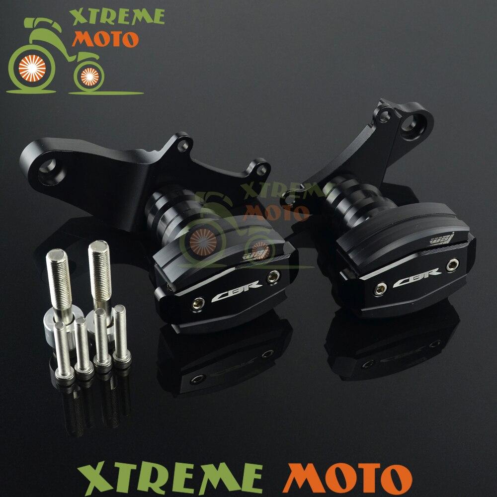 Black Billet Motorcycle Frame Crash Pads Engine Case Sliders Falling Protector For CBR CBR500R 2014 2015 2016