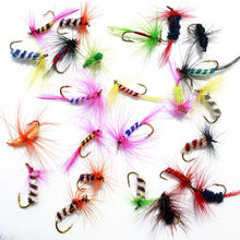 KKWEZVA 60pcs Lures Fly fishing Hooks  Butterfly Insects Style Salmon Flies Trout Single Dry Fly Fishing Lure Fishing Tackle