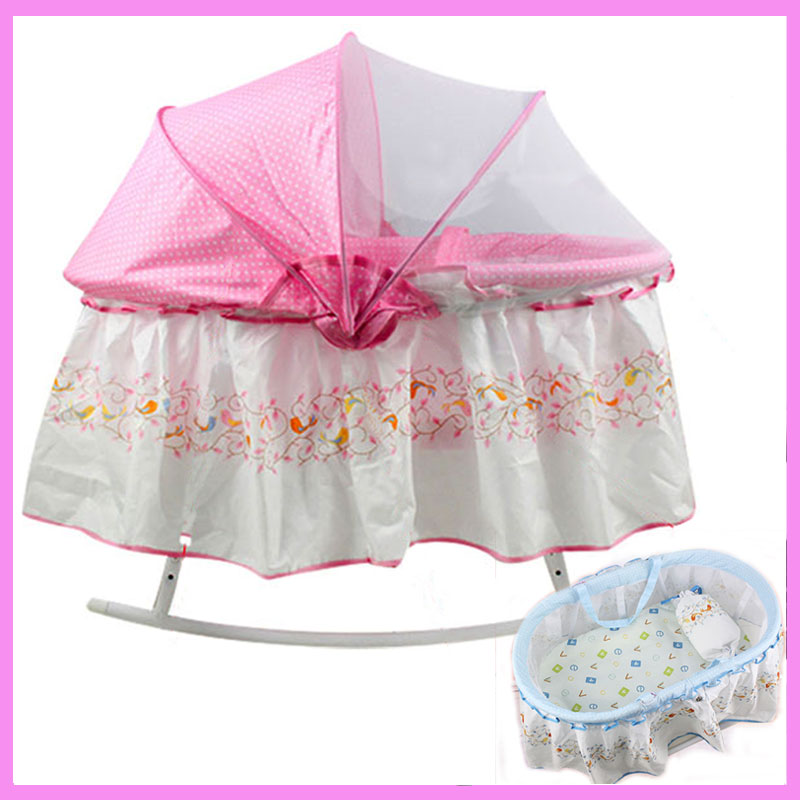 Newborn Baby Crib Netting Portable Baby Crib Bedding Sleeping Basket Bassinet Hand Cradle Baby Bed with Mosquito Net three colors good quality manual animal carton image baby bed baby cradle including mosquito net and sleeping basket