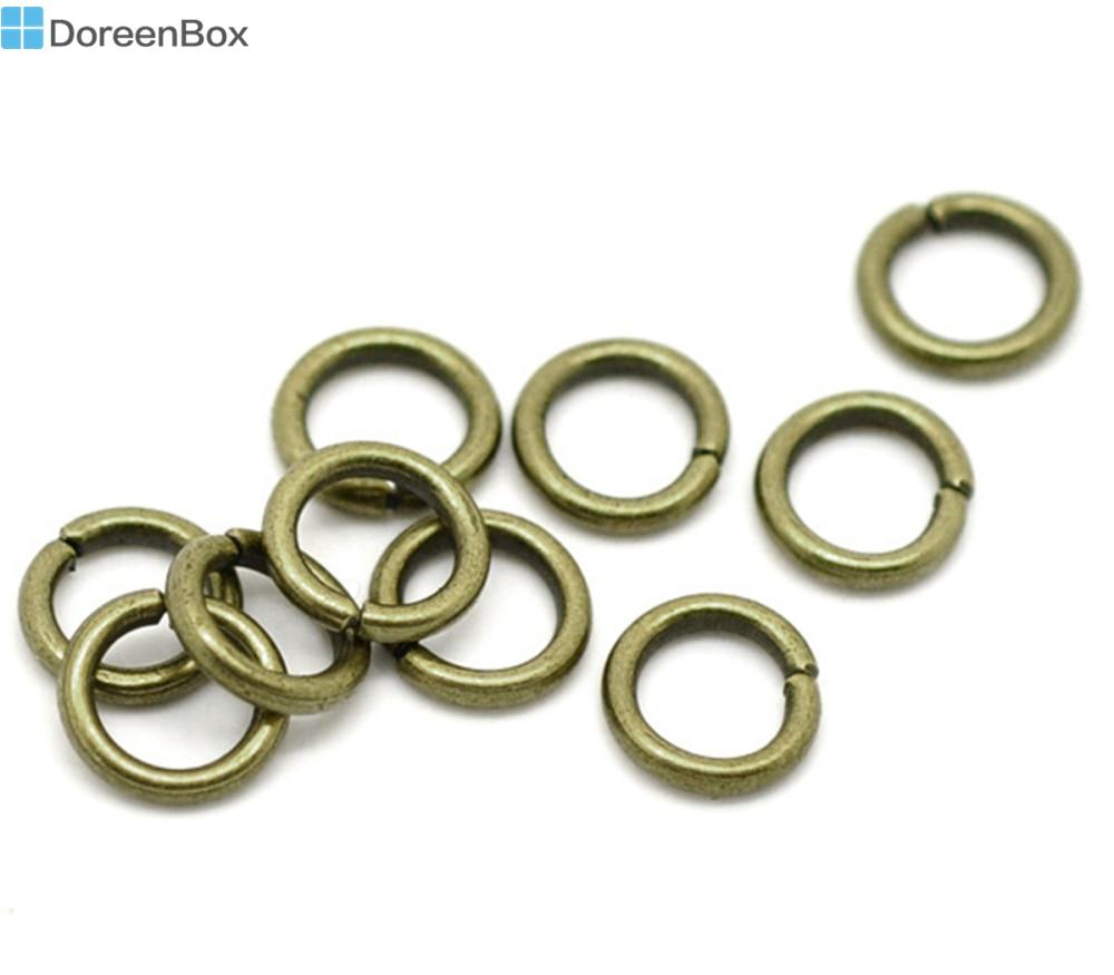 200 PCs Bronze Color Open Rings 8x1.2mm