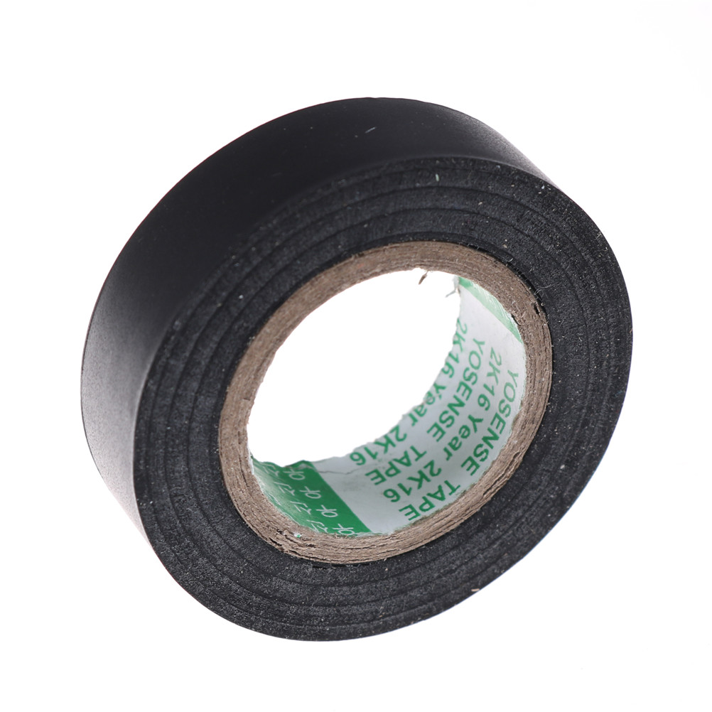 20M Black  PVC Flame Retardant Insulating Tape Adhesive Vinyl Electrical Insulation Tape Roll Heat Resistant Electrical Power