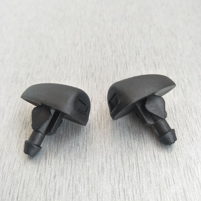2 x front windshield wiper water spray nozzles Jet spray jets Jet windshield for <font><b>Peugeot</b></font> <font><b>307</b></font> image