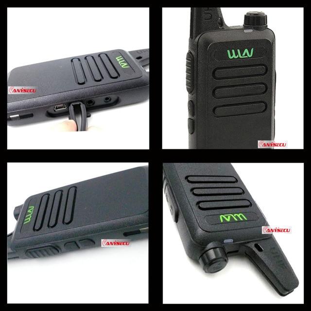 2pcs WLN KD-C1 Walkie Talkie UHF 400-470 MHz 16 Channel  MINI-handheld Transceiver Ham Radio Station WLN Radio Communciator 5