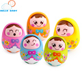 Newborn toy baby tumbler roly-poly infant nodding doll musical cute facial expression little tumbler nodding girls fun gift