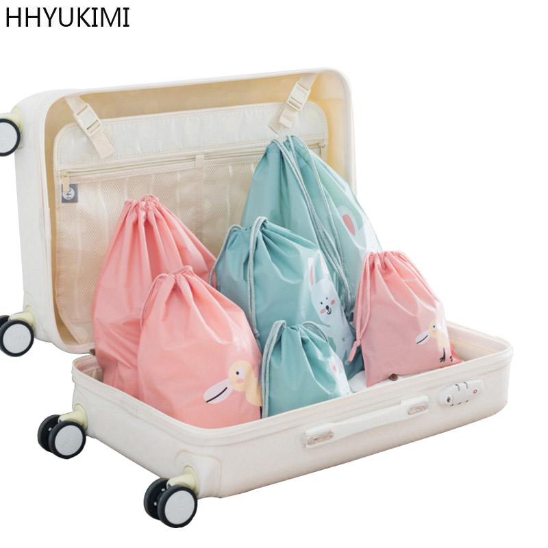HHYUKIMI 3 Pcs/Set Travel Storage Bag Clothes Shoes Tidy Pouch Luggage Organizer Portable Container Storage Case Laundry Bags