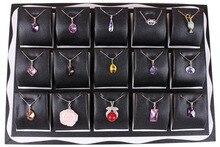 Moda de nueva Butterfly negro colgante conjunto exhibición de la joyería caja porta collar de soporte de almacenamiento de embalaje accesorios accesorios
