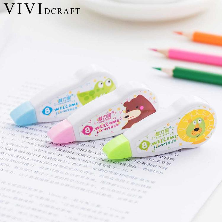 Vividcraft Cartoon Kawaii Mini Small Correction Tape Stationery Novelty Office Kids School Supplies Cinta Correctora Roller