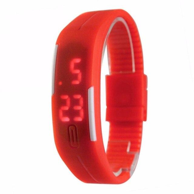 Coréen amoureux hommes femmes montres LED Montre numérique montres électroniques calendrier créatif coloré en caoutchouc Montre intelligente Femme 3
