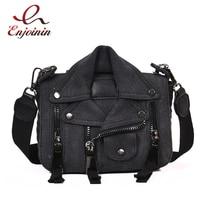 Personalized Design Canvas Jacket Style Female Shoulder Bag Handbag Crossbody Mini Messenger Bag Flap Ladies Gift