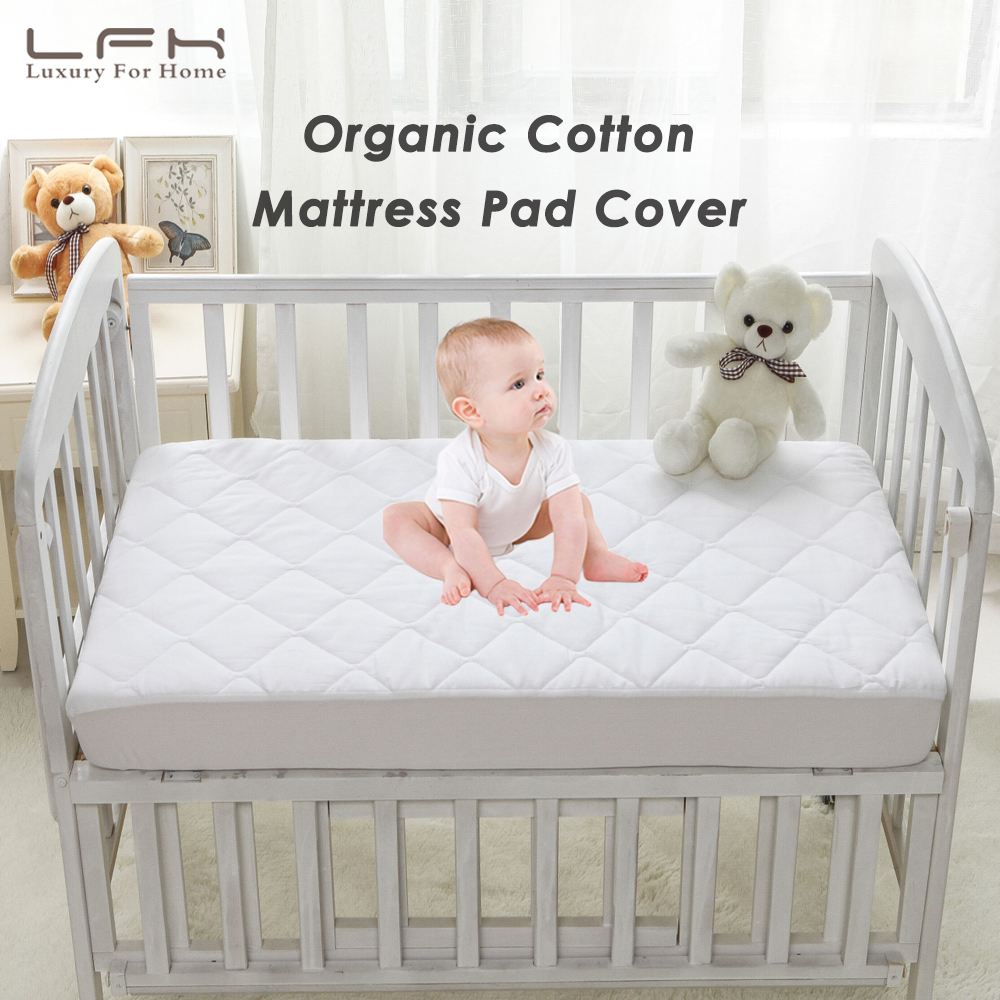 LFH 72x132cm Crib Waterproof Mattress Protector For Toddler Bed Cover Cotton Baby Mattress Pad Topper Cover Anti Mite Bed Sheet mattress