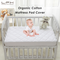 LFH 72x132cm Crib Waterproof Mattress Protector For Toddler Bed Cover Cotton Baby Mattress Pad Topper Cover Anti Mite Bed Sheet