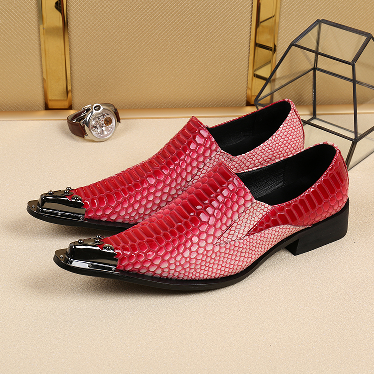 2018 spring autumn gold red crocodile skin leather shoes iron pointy slip on loafers sapato social oxford shoes for men luxury branded men s penny loafes casual men s full grain leather emboss crocodile boat shoes slip on breathable moccasin driving shoes