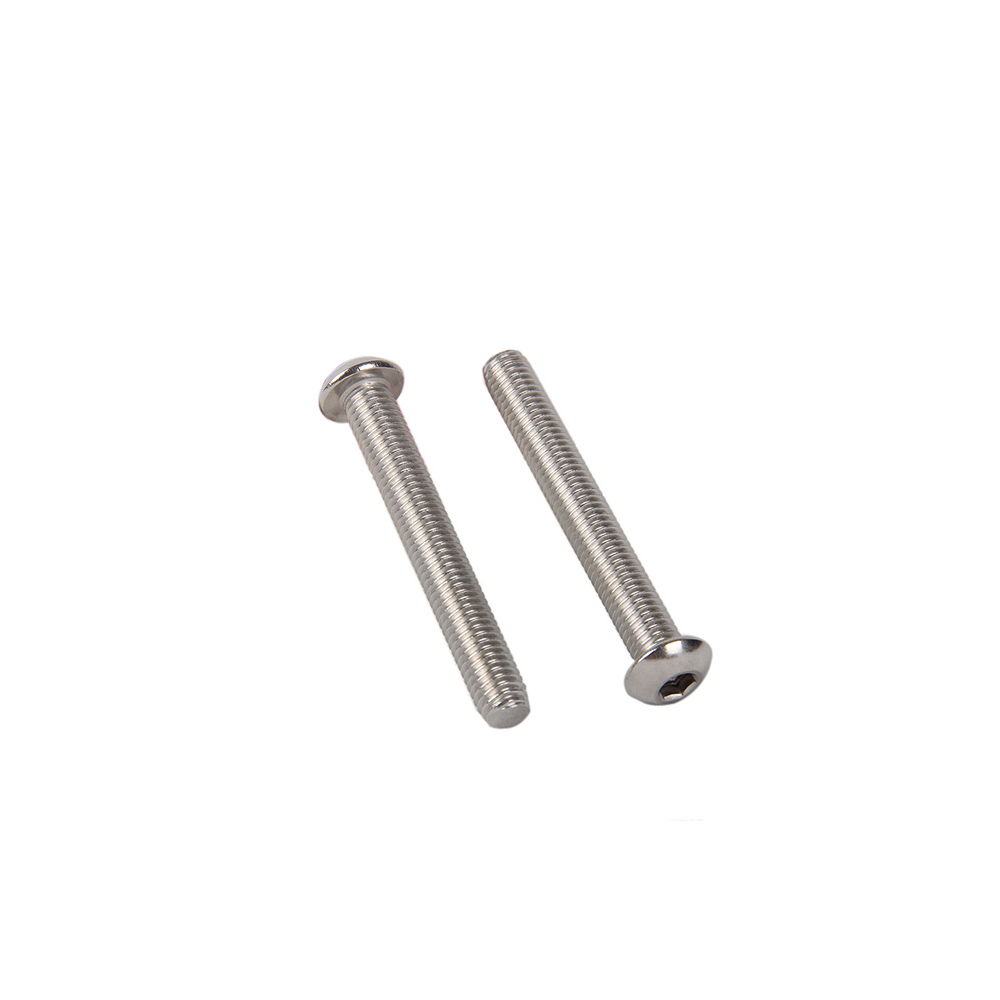50pcs/Lot M2 M2.5 <font><b>M3</b></font> 3mm/4mm/<font><b>5mm</b></font>/6mm/8mm/10mm yuan cup Half round head 304 Stainless Steel Hex Socket Head Cap <font><b>Screw</b></font> Bolts image