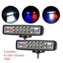 6 นิ้ว LED Work Light บาร์คู่สี Strobe 12V 24V สปอตไลท์สำหรับ Offroad Moto SUV ATV LED ขับรถหมอกโคมไฟ Spotlight