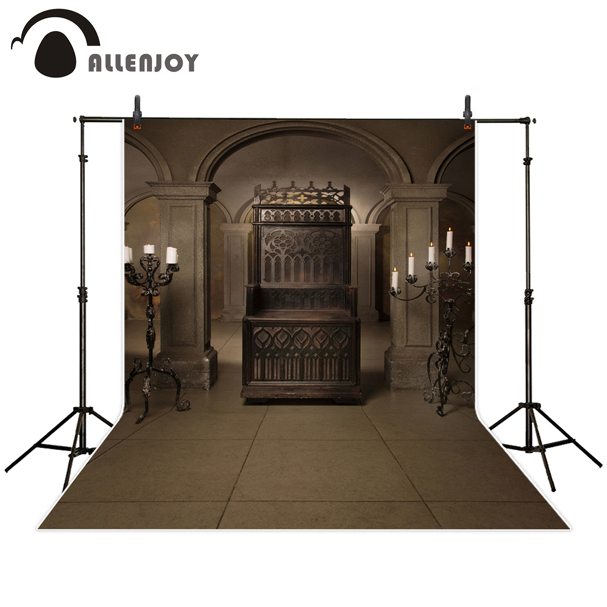 Allenjoy photography backdrop Vintage royal throne medieval castle background photo studio new design camera fotografica allenjoy photography backdrop library books student child newborn photo studio photocall background original design