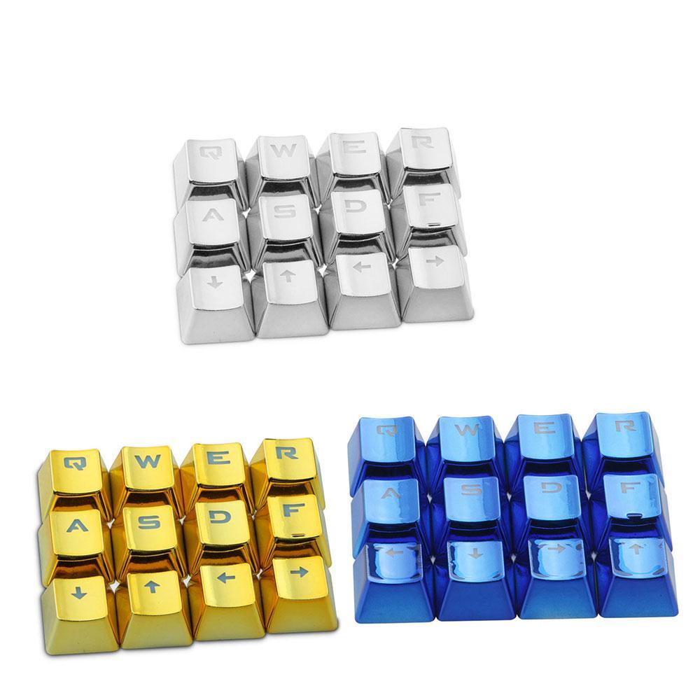 AMZDEAL Universal Mechanical Keyboard Protector PBT Plating 12Pcs Keycap Set Dustproof