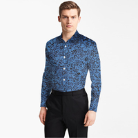 2018 Men Shirt Oxford Cotton With Printed Small Pattern Man Fashion Designer Brand Shirt Tailor Made Bespoke Mtm Male Blouse