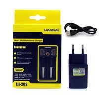 2018 LiitoKala Lii-202 5V plug 18650 Charger LCD display Test Battery 18650 18350 26650 10440 14500 18500 AA AAA Battery Charger